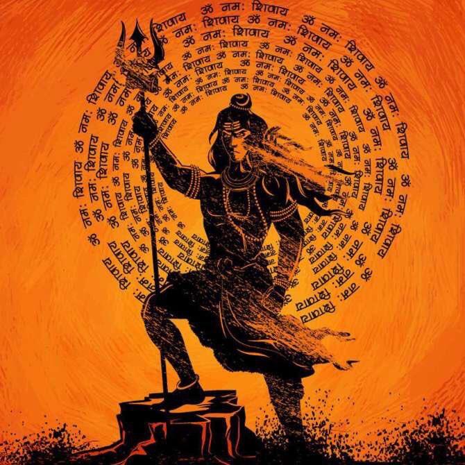 Worshiping lord shiva /chhayaonline.com